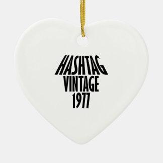 cool vintage 1976 designs ceramic ornament