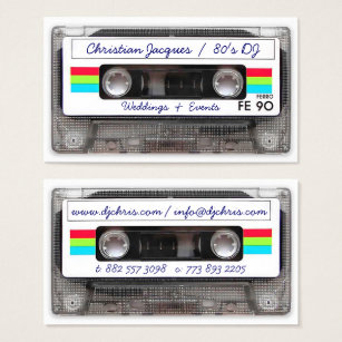 Retro business cards 19500 retro business card templates cool vintage 80s retro music cassette tape funny business card accmission Gallery