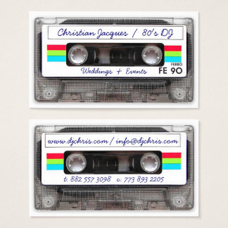 Cool vintage 80s retro music cassette tape funny business card