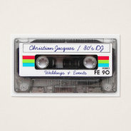 Cool Vintage 80s Retro Music Cassette Tape Funny Business Card at Zazzle