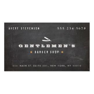 Cool Vintage Barber Shop Straight Razor Business Card