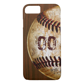 Cool Vintage Baseball iPhone Case Jersey NUMBER