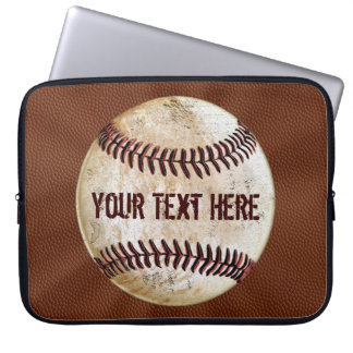 Cool Vintage Baseball Laptop Case with YOUR TEXT