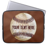 Cool Vintage Baseball Laptop Case with YOUR TEXT Computer Sleeves