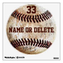 Cool Vintage Baseball Wall Art NAME, Jersey NUMBER Wall Decal