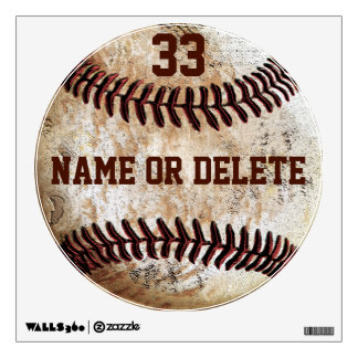 Cool Vintage Baseball Wall Art NAME Jersey NUMBER Decal