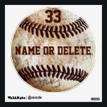 "Cool Vintage Baseball Wall Art NAME, Jersey NUMBER Wall Decal<br><div class=""desc"">Cool Vintage Baseball Wall Art fabric paper moveable baseball decals stickers, for your wall. Personalized Baseball Decals with NAME and Jersey NUMBER. Click &quot;MORE&quot; to see both text boxes to type in YOUR TEXT or delete text. Call Rod or Linda to HELP you or to make any changes: 239-949-9090. You...</div>"