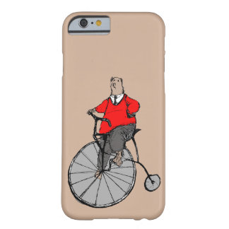 Cool Vintage Bear on Penny Farthing Bicycle Barely There iPhone 6 Case