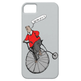 Cool Vintage Bear on Penny Farthing Bicycle iPhone SE/5/5s Case