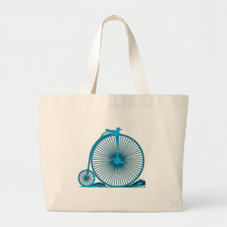 Cool Vintage Bicycle Illustration Products Large Tote Bag