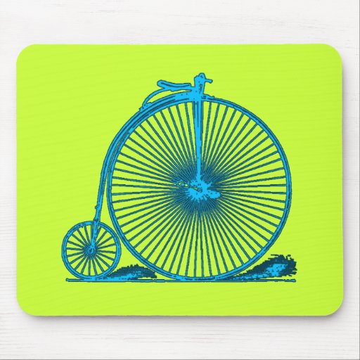 Cool Vintage Bicycle Illustration Products Mouse Pad