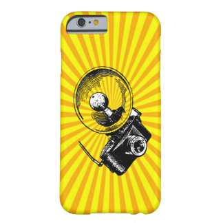 Cool Vintage Camera on Sunburst Barely There iPhone 6 Case