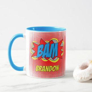 Cool Vintage Comic Book Pop Art Style BAM! Mug