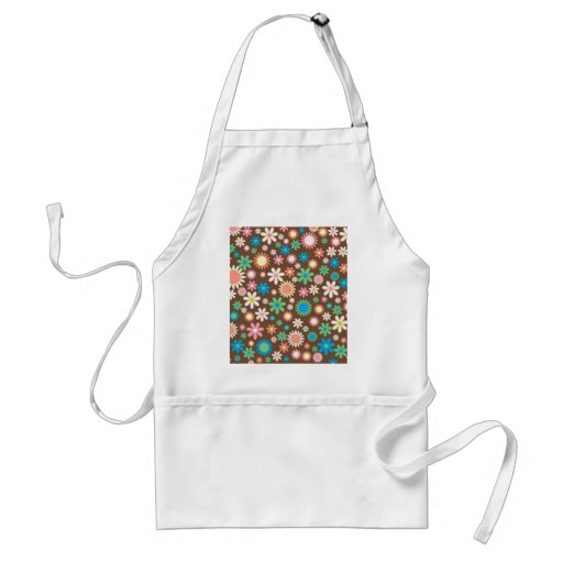 cool vintage Floral Flowery Retro Funky pattern Apron
