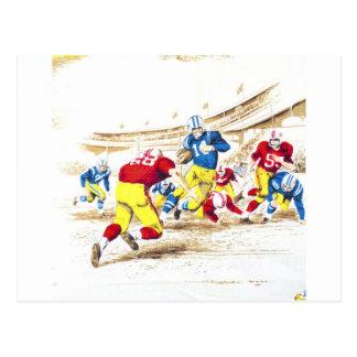 Cool Vintage Football Game Players Photo Image Postcard