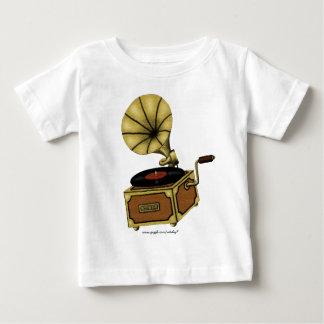 Cool vintage gramophone baby t-shirt