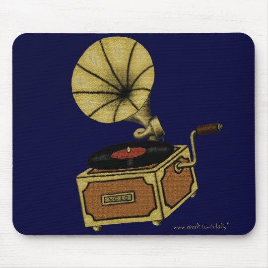 Cool vintage gramophone mousepad design