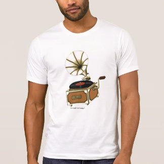 Cool vintage gramophone music t-shirt