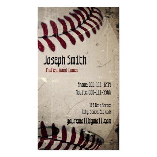 Cool Vintage Grunge Baseball Business Card Template