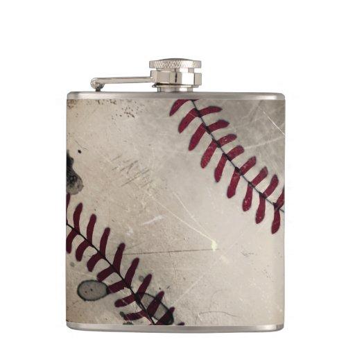 Cool Vintage Grunge Baseball Flask Flask