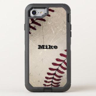 Cool Vintage Grunge Baseball OtterBox Defender iPhone 8/7 Case
