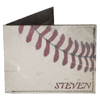 Cool Vintage Grunge Baseball Personalized Tyvek® Billfold Wallet