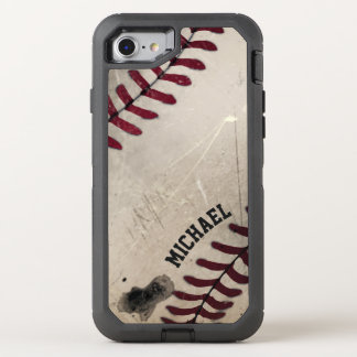 Cool Vintage Grunge Baseball Personalized OtterBox Defender iPhone 7 Case