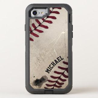Cool Vintage Grunge Baseball Personalized OtterBox Defender iPhone 8/7 Case