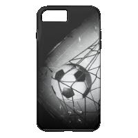 Cool Vintage Grunge Football in Goal iPhone 7 Plus Case