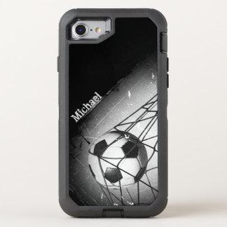 Cool Vintage Grunge Football in Goal OtterBox Defender iPhone 8/7 Case
