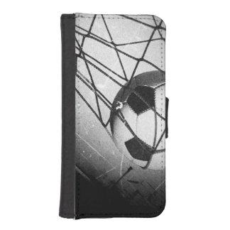 Cool Vintage Grunge Football in Goal Phone Wallets