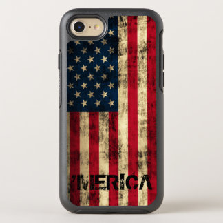 Cool Vintage Grunge 'Merica Flag OtterBox Symmetry iPhone 7 Case