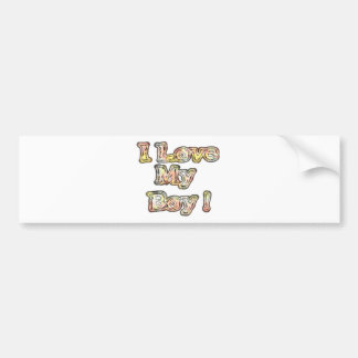 Cool Vintage Hakuna Matata Gifts I Love my Boy.png Bumper Sticker