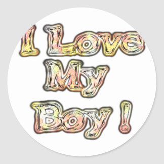 Cool Vintage Hakuna Matata Gifts I Love my Boy.png Round Stickers