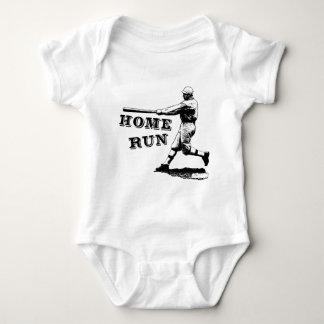Cool Vintage Home Run Baseball Illustration Baby Bodysuit
