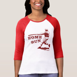 Cool Vintage Home Run Baseball Illustration T-Shirt