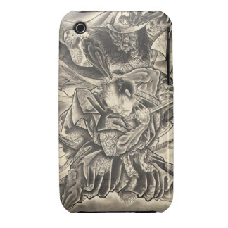 Cool vintage japanese demon samurai fight tattoo Case-Mate iPhone 3 case