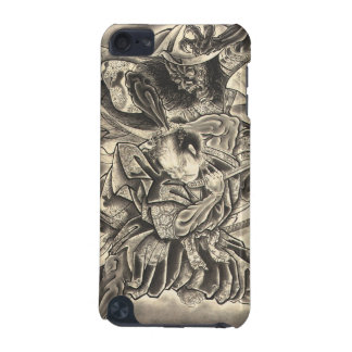 Cool vintage japanese demon samurai fight tattoo iPod touch (5th generation) cases