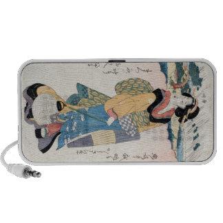 Cool vintage japanese ukiyo-e scroll geisha art travelling speaker