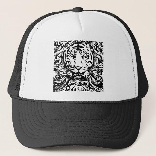 cool vintage king of the jungle tiger design trucker hat