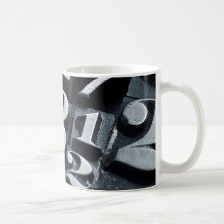 Cool, vintage Letterpress random numbers design Coffee Mug