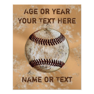 Cool Vintage like Personalized Baseball Posters
