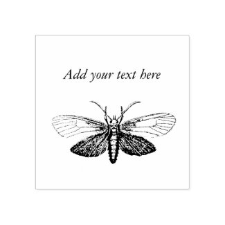 Cool Vintage Moth Add Your Personal Text