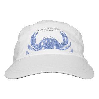 Cool Vintage Nautical Blue Crab Custom Beach Hat