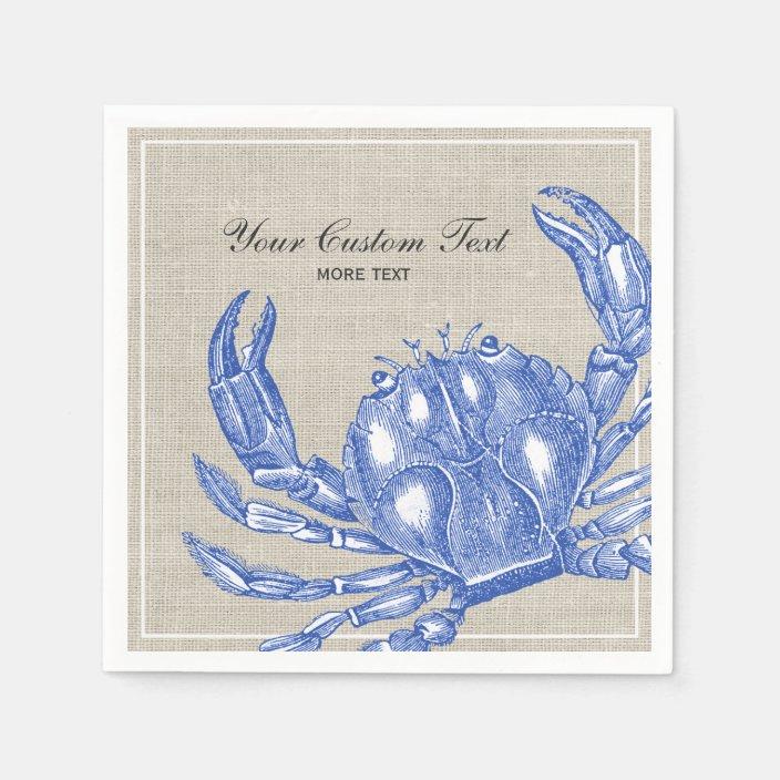 1267332769 CafePress Blue Crab Beach Towel