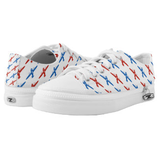 Cool Vintage Red and Blue Bombers Low-Top Sneakers