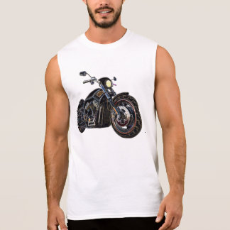 Cool Vintage Road Glowing Motorcycle Chopper Sleeveless Shirt