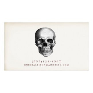 Cool Vintage Skull Calling Card 2 Business Card Template