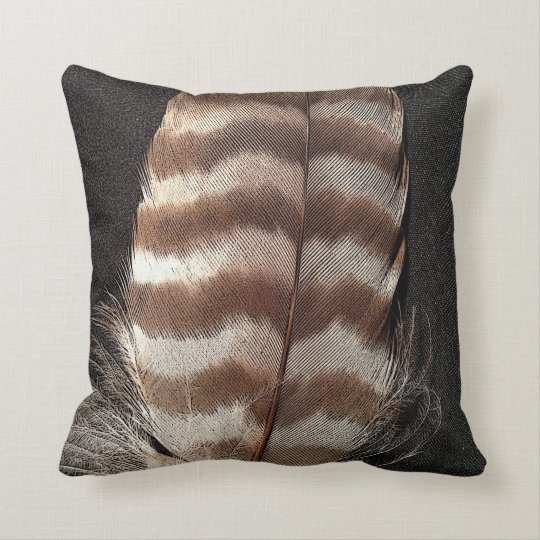 Cool vintage style feather design throw pillow Zazzle