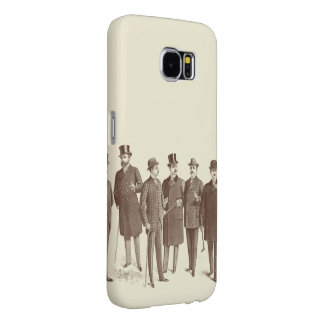 Cool Vintage Style Manly Mens Fashion Gentlemen Samsung Galaxy S6 Case